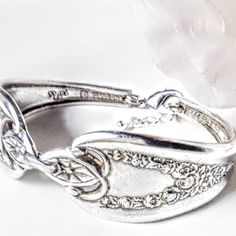 Silver Spoon Bracelet Jewelry Antique Old Colony