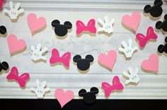 Minnie mouse garland banner decorations by Anyoccasiongarlands