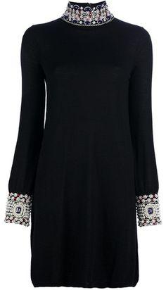 ISSA   Embellished Detail Dress
