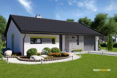 projekty domov - projekt domu LIVE Manufactured Stone, Loft Room, Best Western, Facade House, Ramen, Tiny House, Beautiful Homes, House Plans, Farmhouse