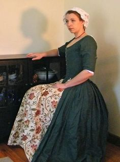 18th century working class gown in Historic Re-creations by