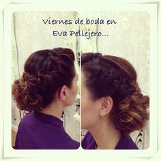 Trenzas..Eva Pellejero Expertas en Novias!!! Eva Pellejero Beauty Salon, Sanclemente 7-9, 50001 Zaragoza Telf.976795152 #novias #beauty #beautysalon #evapellejero