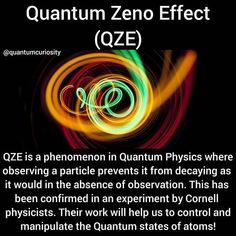 This in easy language means a system cant change while you are watching it. Theoretical Physics, Physics And Mathematics, Quantum Physics, Learn Physics, Astronomy Facts, Space And Astronomy, Physics Theories, Physics Facts, Quantum Consciousness