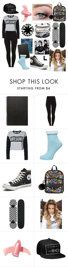 """""""Dark Necessities"""" by wedontneednoeducation ❤ liked on Polyvore featuring Muji, Pieces, ONLY, Dorothy Perkins, Converse, Elizabeth Arden and Domo Beads"""