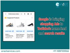 Now, Youtube users can see visual shopping ads on youtube home feed and when conducting searches. Shopping ads will depend on the interest of individual users. Advertisers using standard shopping campaigns are eligible to have their ads displayed on youtube. as long as they've opted into YouTube on Display Network.  #Digitalmarketing #youtube #newupdate #Displayadvertisement #Googleads #videoads Youtube Home, You Youtube, Digital Marketing Trends, Display Ads, Brand Promotion, Google Ads, It Network, Improve Yourself, Shopping