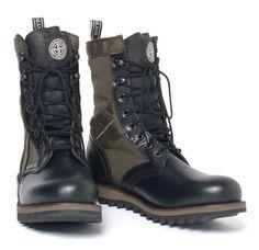 STONE ISLAND X DIEMME, MILITARY BOOT: leather, nylon, vibram, etc.