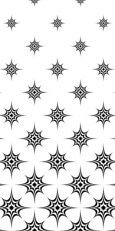 Seamless monochrome star pattern