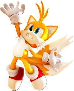 "Mario & Sonic At The Olympic Games - Jump Render - Miles ""Tails"" Prower - Gallery Sonic The Hedgehog, Hedgehog Craft, Shadow The Hedgehog, Cute Characters, Cartoon Characters, Sonic Underground, Fighting Poses, Sonic Art, Sonic Boom"