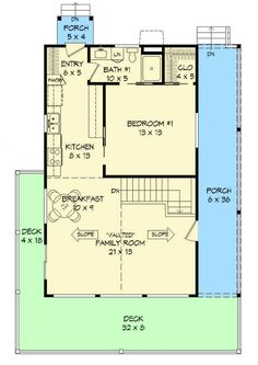 Rustic Country Getaway - 68417VR   1st Floor Master Suite, CAD Available, Media-Game-Home Theater, PDF, Sloping Lot   Architectural Designs