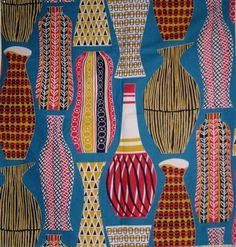 Sanderson Haywood 50's  Festival of Britain based on Poole Pottery