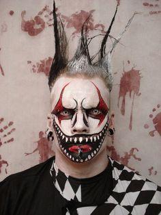 evil jester makeup