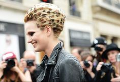 Leopard hair on the streets at Couture