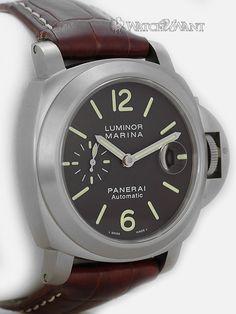 Panerai PAM 240 Luminor Marina Automatic - 44mm Titanium & Chocolate/Tobacco Brown Dial