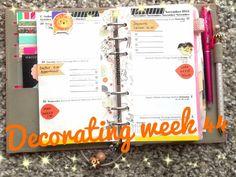 Decorating my Filofax Week 44 Personal Sized Domino