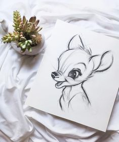 Mi dibujo de Disney - Bambi You are in the right place about disney stuff Here we offer you the most beautiful pictures about the disney stuff for kids you are looking for. When you examine the Mi dibujo de Disney - Bambi pa. Disney Drawings Sketches, Art Drawings Sketches Simple, Pencil Art Drawings, Animal Drawings, Easy Drawings, People Drawings, Drawing Disney, Drawing Ideas, Pinturas Disney