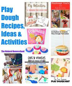 Play Dough Recipes, Ideas & Activities