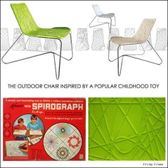 The Aprro Spiro chair was inspired by Spirograph!