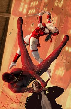 Elektra & Daredevil by dainz.net via Behance