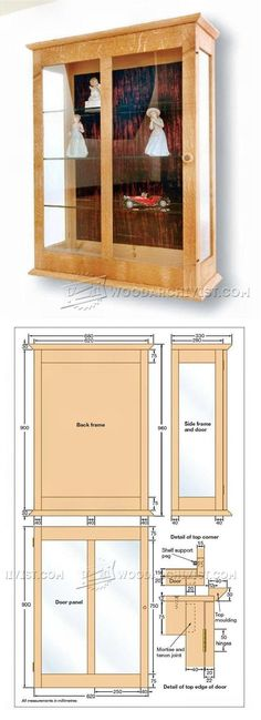 Display Cabinet Plan - Furniture Plans and Projects | WoodArchivist.com