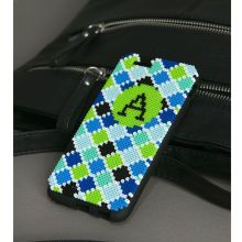 Perler® Mini Beads™ Monogrammed Phone Case