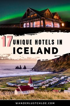 From hotels overlooking lava fields, to Airbnbs by glaciers, and hot tubs with views of the Northern Lights, these are the most unique hotels in Iceland. Some are perfect for a city trip to Reykjavik, while others are perfect for the Golden Circle. You could pick an igloo or a bubble hotel, or find one of the coolest Airbnbs with a hot tub and sauna. This list has plenty of inspiration for accommodation in Iceland. #Iceland #IcelandHotels #IcelandTravel #TravelInspiration #AdventureTravel Quirky Places To Stay, Places To Visit, Unique Hotels, Best Hotels, Amazing Destinations, Travel Destinations, Iceland Travel Tips, Honeymoon Hotels, Golden Circle