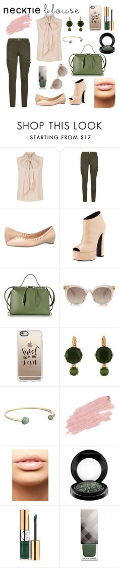 """""""Necktie and Skinny Cargo"""" by anatoraya ❤ liked on Polyvore featuring MaxMara, 7 For All Mankind, Ivanka Trump, Giuseppe Zanotti, Jil Sander, Casetify, Les Néréides, Cole Haan, Jane Iredale and MDMflow"""