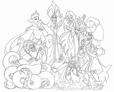 Image Result For Disney Villains Coloring Pages