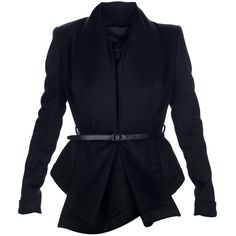 BURBERRY PRORSUM belted blazer ($2,630) ❤ liked on Polyvore