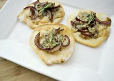 Blue Cheese and Onion Flatbread