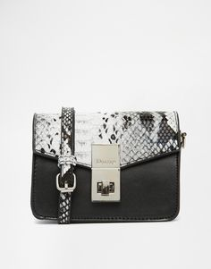 Dune Mini Box Bag With Snake Print Detail