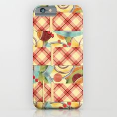 Plaid Europa Textile Design iPhone & iPod Cases by #PatriciaSheaDesigns
