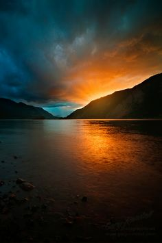 A sunset on the Mighty Columbia River at Viento State Park, Oregon http://www.awesomehealthandfitness.com #sunset #scenery