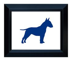 Bull Terrier Art  Handcut Dog Silhouette by MillerSyeShadows