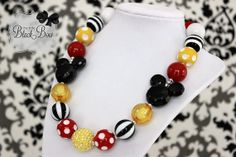 Planning on getting this for my daughter for our Disney World Trip. I might get one, too! MICKEY MINNIE MOUSE Inspired Chunky Necklace