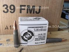 1000 Round Case - 7.62x39 FMJ 124 Grain Russian Ammo made by UCW - Special Purchase