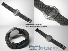 Conquistador Braid - Old CASIO's paracord watch band.