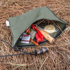 Wild edibles Tinders etc for Bushcraft /& Survival Prepper EDC Foraging Pouch