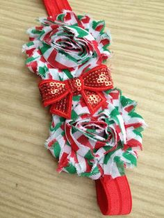 Red White and Green Christmas Headband by SalinasAccessories, $6.50