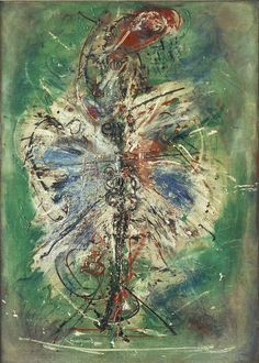 """Exhibition: 'Wols: Cosmos and Street' at the Museo Nacional Centro de Arte Reina Sofía, Madrid http://wp.me/pn2J2-5tY Dr Marcus Bunyan. """"Wols has to be one of the most interesting artists of the 20th century and, elementally, one of its greatest."""" Art work: Wols. 'The bird' 1949"""