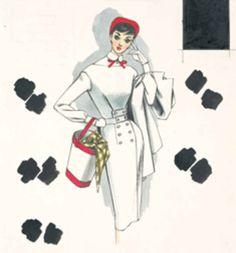 「配色の研究『それいゆ』第37号原画」(1956)