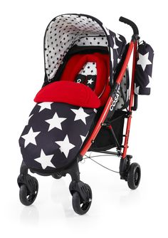 Cosatto Yo! All Star Pushchair  -Suitable from Birth  -Super Lighweight Aluminium Chassis with Carry Handle  -Compact Umbrella Fold with Auto Lock  -Multiple Recline Positions  -Lockable Front Swivel Wheels  -Spacious Storage Basket  -Free Cosy Toes with Kangaroo Pouch & Reversible Zip-Off Liner  -Free Chest Pads and Head Hugger  -Free Raincover and Carry Bag  -Free 4 year Guarantee