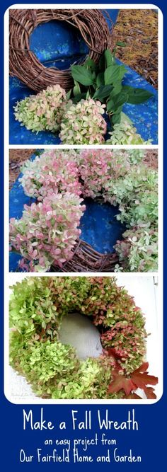DIY ~ Free Fall Wreath Using Hydrangeas