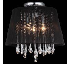 Plafon LAMPA sufitowa ISLA MXM1869-3 WH Italux abażurowa OPRAWA kryształowa crystal biały