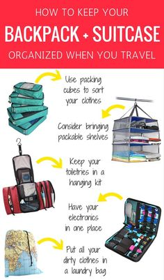 5 Items to Keep Your Backpack Organized When You Travel