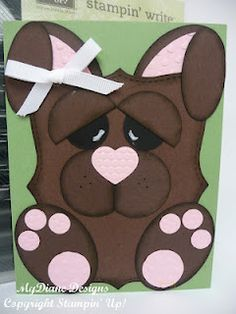 Easter card, stampin up, handmade card, bunny, punch art