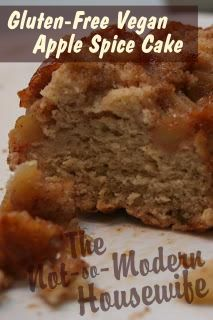 Gluten Free Vegan Apple Spice Cake - taste like French toast with apples - The Not So Modern Housewife: