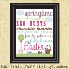 Easter Subway Art 1 Printable Wall Art by BitsyCreations