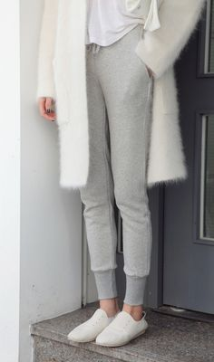 Jersey Skinny Pants with Drawstring Waist