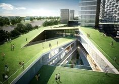 Nine Dragons Housing Complex is a Green-Roofed Residential Maz...