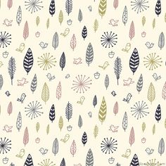 birds and feathers fabric by lizin8or